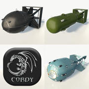 Bombes nucléaires x3 3d model