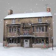 Casa de invierno en tiempo real 2 modelo 3d