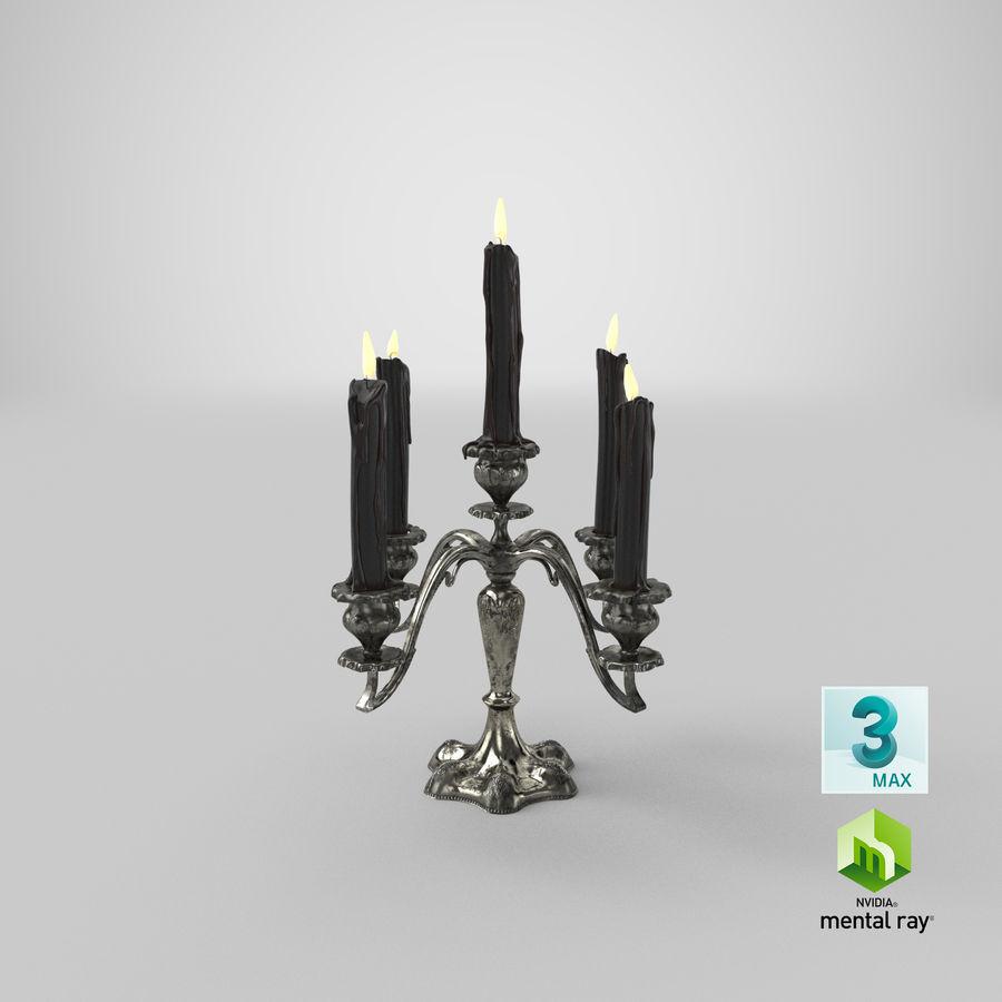 Candelabros Assustadores - Mantel royalty-free 3d model - Preview no. 45