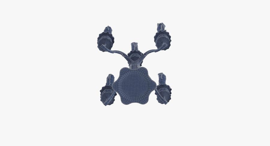 Candelabros Assustadores - Mantel royalty-free 3d model - Preview no. 29