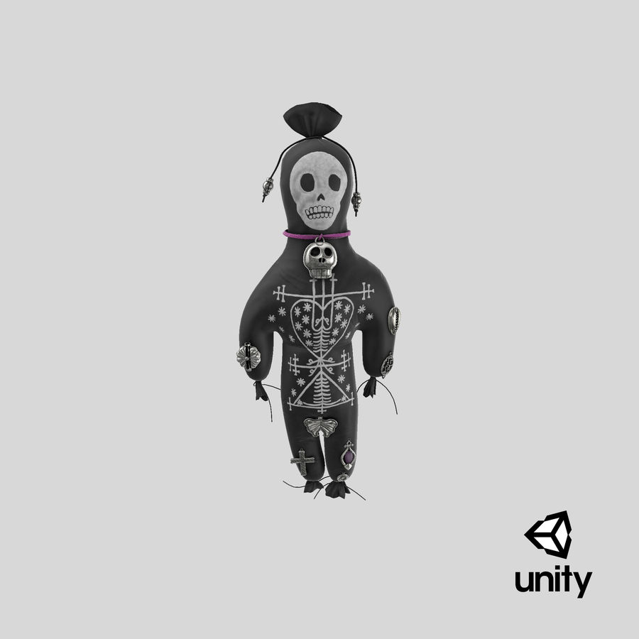 Voodoo Doll 02 royalty-free 3d model - Preview no. 23