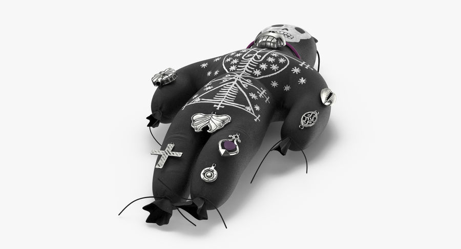 Voodoo Doll 02 royalty-free 3d model - Preview no. 8