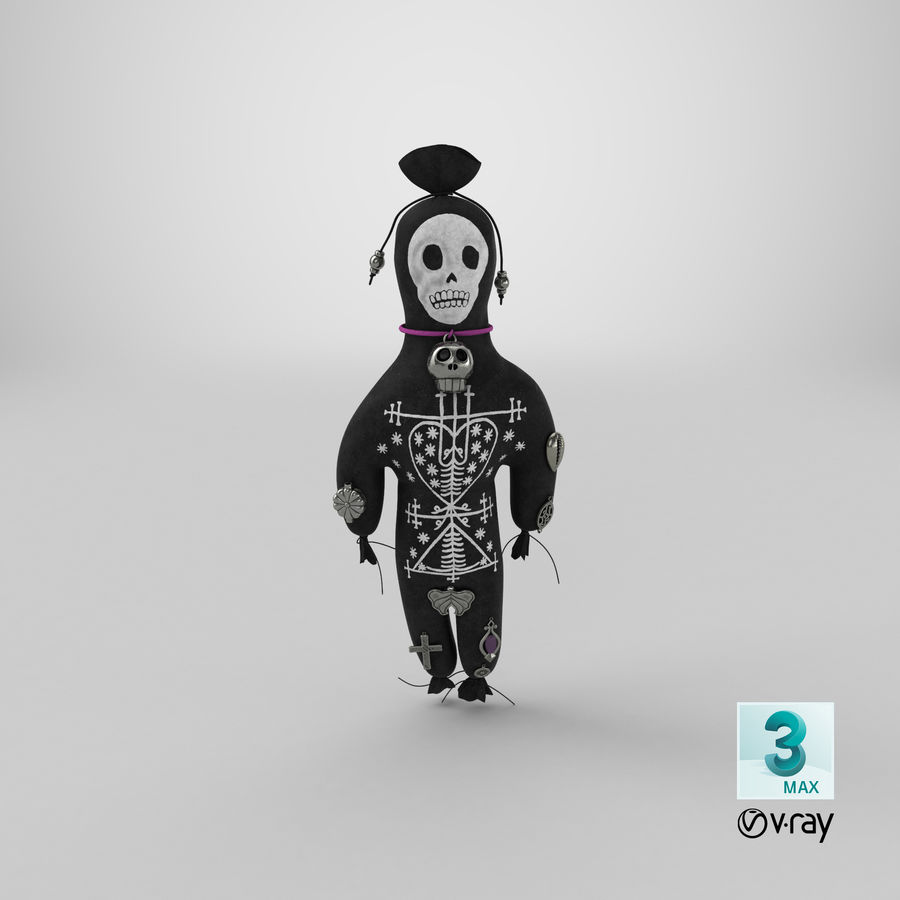 Voodoo Doll 02 royalty-free 3d model - Preview no. 22