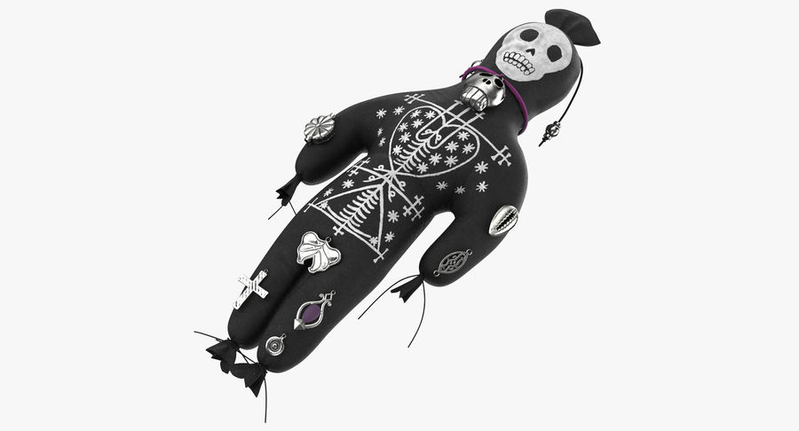 Voodoo Doll 02 royalty-free 3d model - Preview no. 2