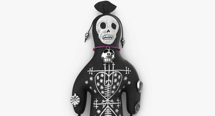 Voodoo Doll 02 royalty-free 3d model - Preview no. 9
