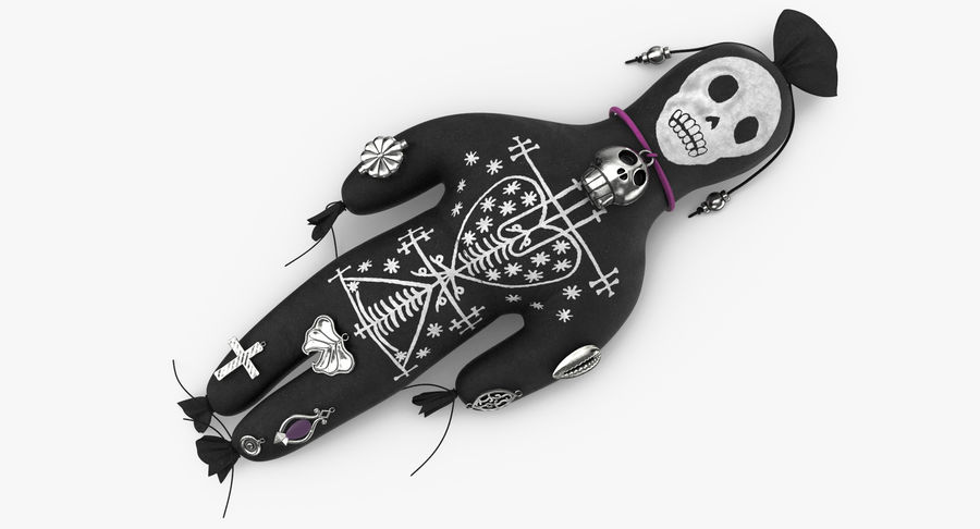 Voodoo Doll 02 royalty-free 3d model - Preview no. 7