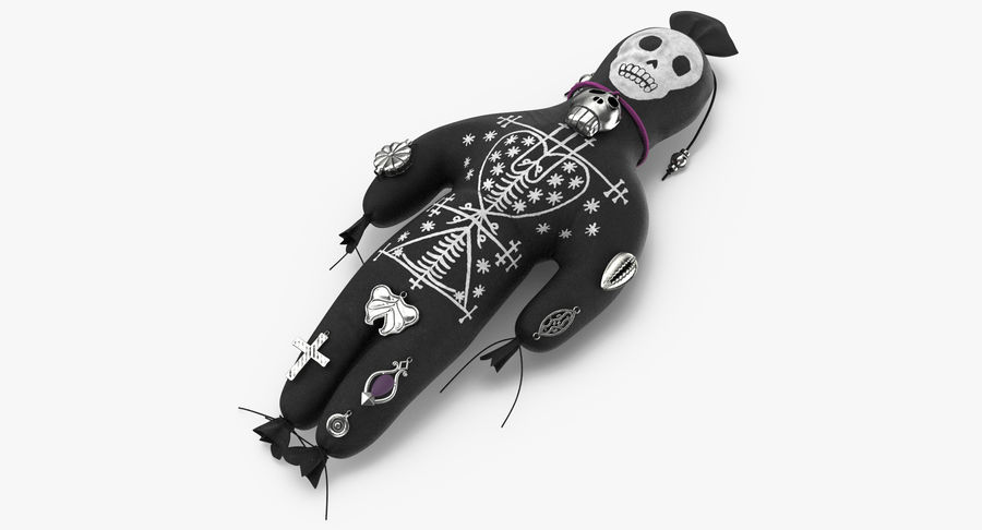 Voodoo Doll 02 royalty-free 3d model - Preview no. 3