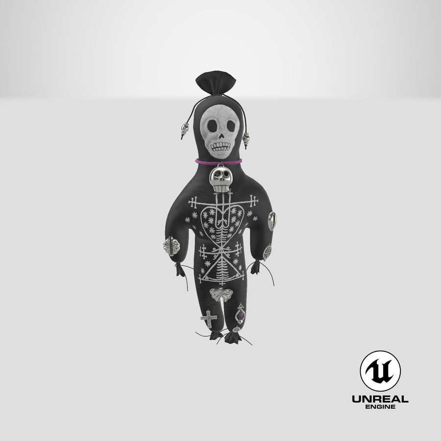 Voodoo Doll 02 royalty-free 3d model - Preview no. 24
