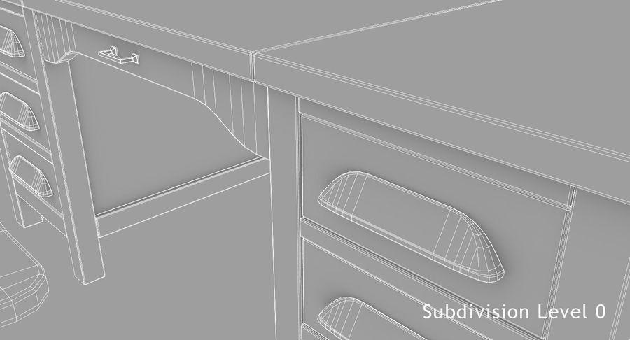 사무용 책상 royalty-free 3d model - Preview no. 12