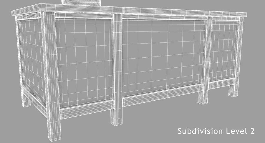 사무용 책상 royalty-free 3d model - Preview no. 17