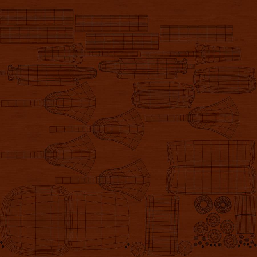 사무용 책상 royalty-free 3d model - Preview no. 27