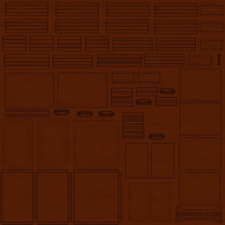 사무용 책상 royalty-free 3d model - Preview no. 28