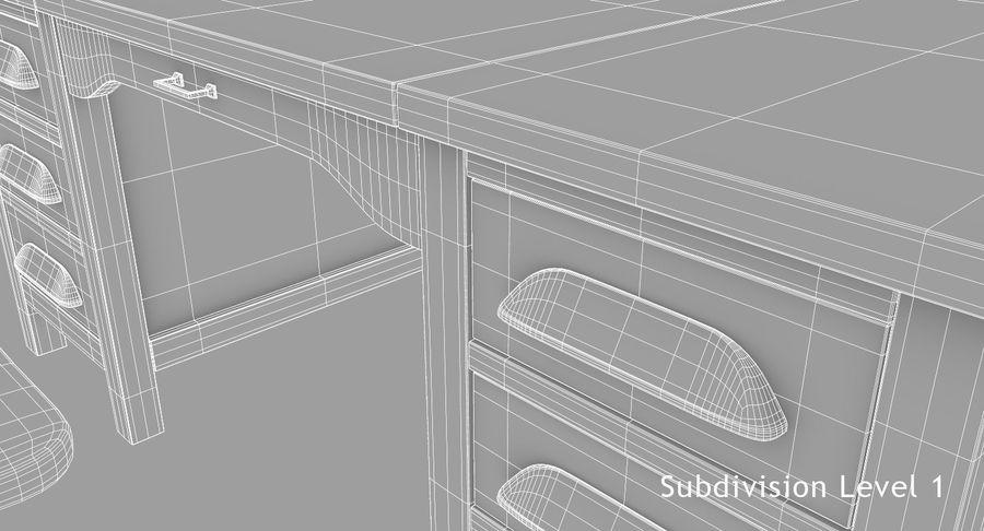 사무용 책상 royalty-free 3d model - Preview no. 13
