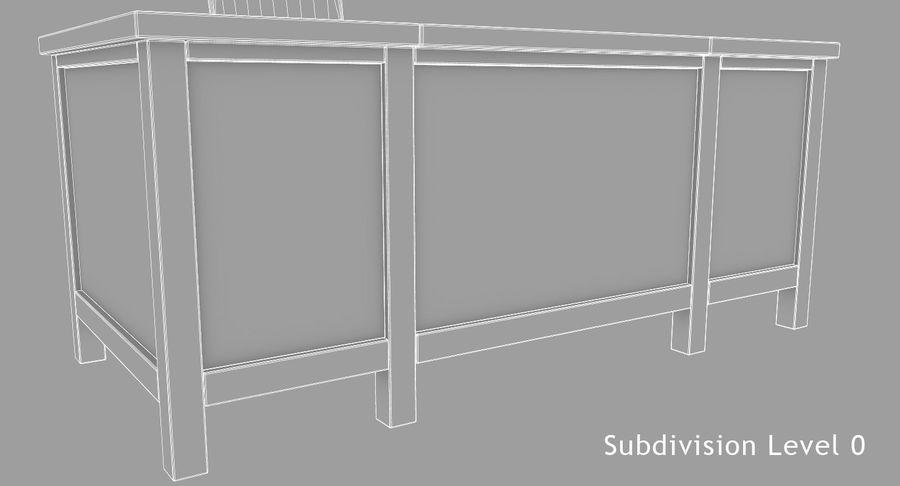 사무용 책상 royalty-free 3d model - Preview no. 15
