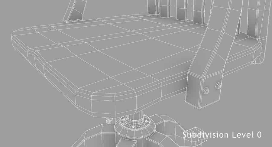 사무용 책상 royalty-free 3d model - Preview no. 21
