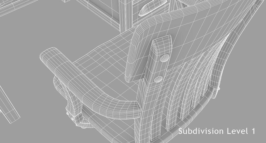 사무용 책상 royalty-free 3d model - Preview no. 19