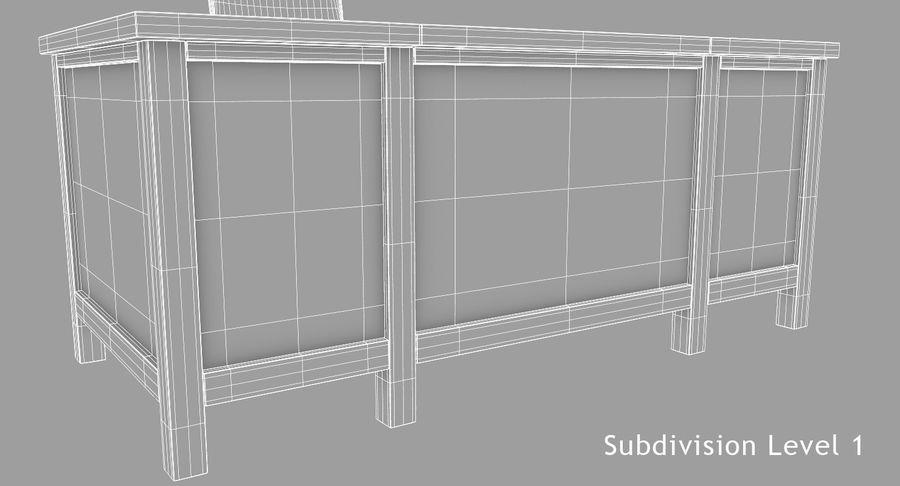 사무용 책상 royalty-free 3d model - Preview no. 16
