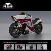 Futuristic bike own concept: Project-1 3d model