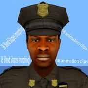 警察官アニメーションbl 3d model