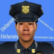 poliziotto chi animato 3d model