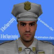 polis animerad mus 3d model