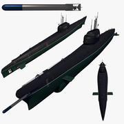 苏联潜艇 3d model