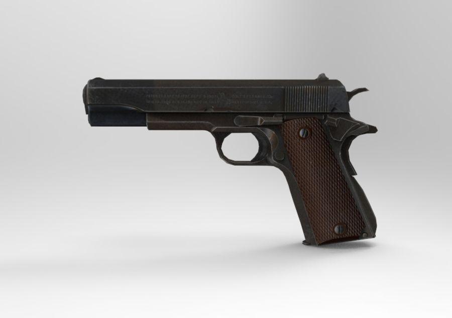 柯尔特1911 royalty-free 3d model - Preview no. 1