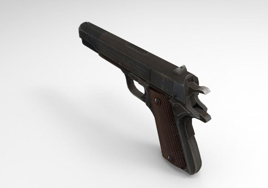 柯尔特1911 royalty-free 3d model - Preview no. 6