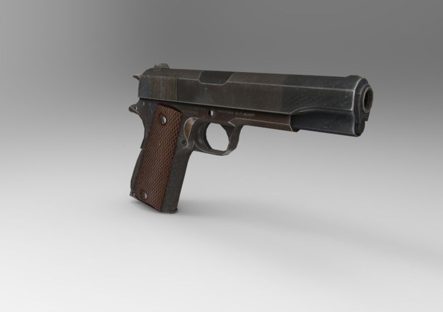 柯尔特1911 royalty-free 3d model - Preview no. 3