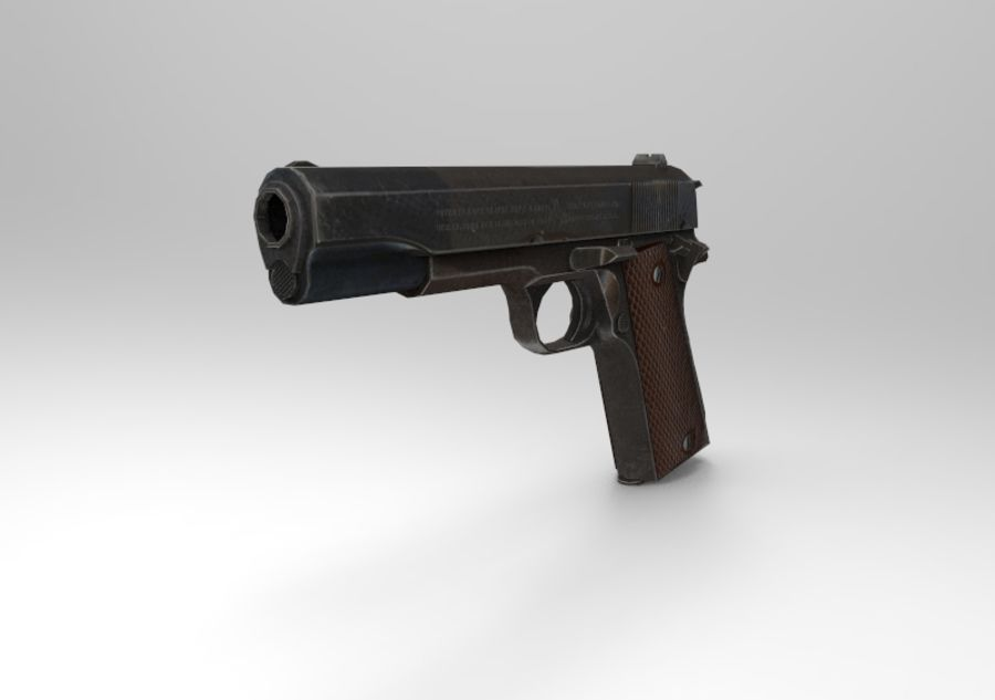 柯尔特1911 royalty-free 3d model - Preview no. 2