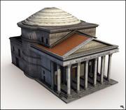 Pantheon, Rom. 3d model