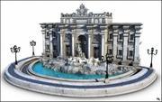 Trevi Fountain, (Fontana di Trevi), Rome. 3d model