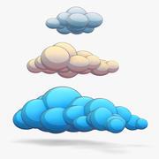 Cartoon Clouds 3d model