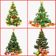Weihnachtsbäume Sammlung V1 3d model