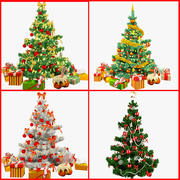 Christmas Trees Collection V2 3d model