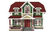 Casa Vittoriana Per Programma 3d model