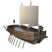 Черепаха Корабль 3d model