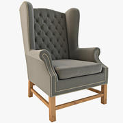 Manor Wingback Chair 3d model