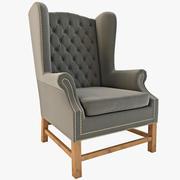 Herrgård Wingback-stol 3d model
