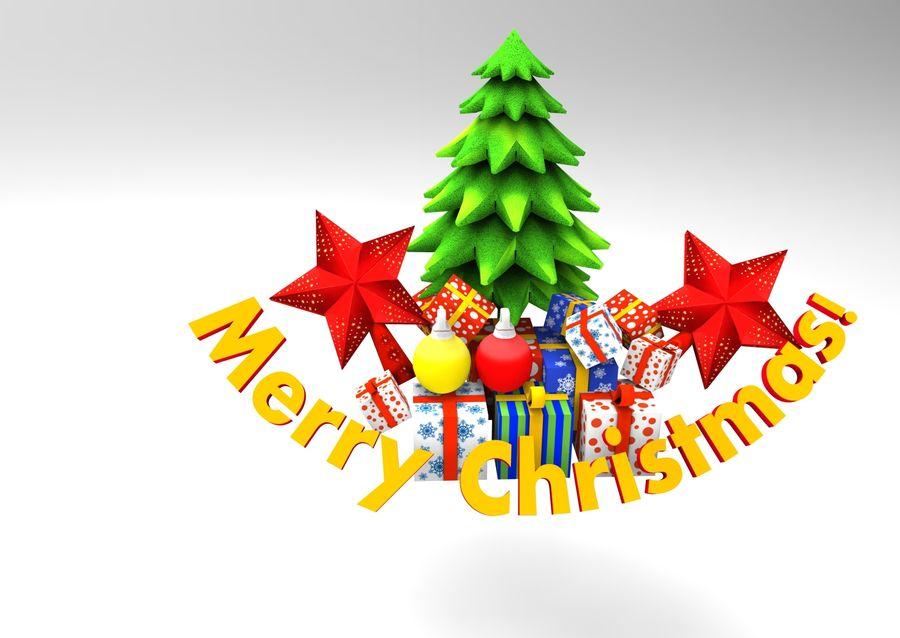 slitta di Babbo Natale royalty-free 3d model - Preview no. 14
