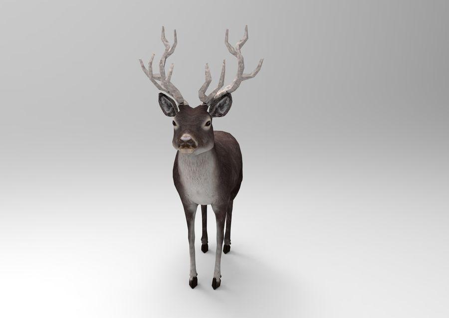 slitta di Babbo Natale royalty-free 3d model - Preview no. 9