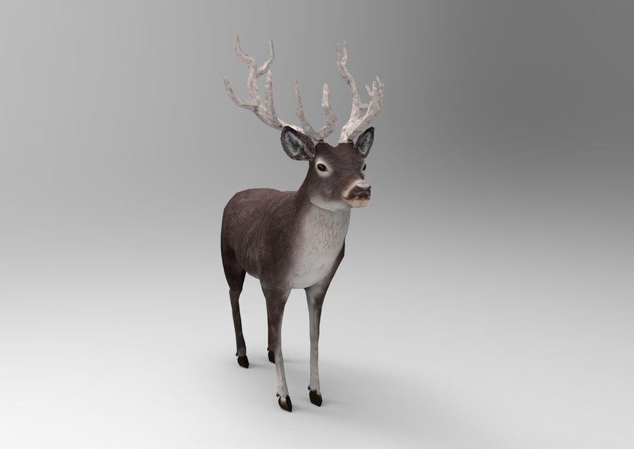 slitta di Babbo Natale royalty-free 3d model - Preview no. 8