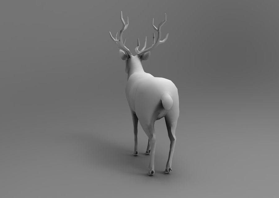 slitta di Babbo Natale royalty-free 3d model - Preview no. 22