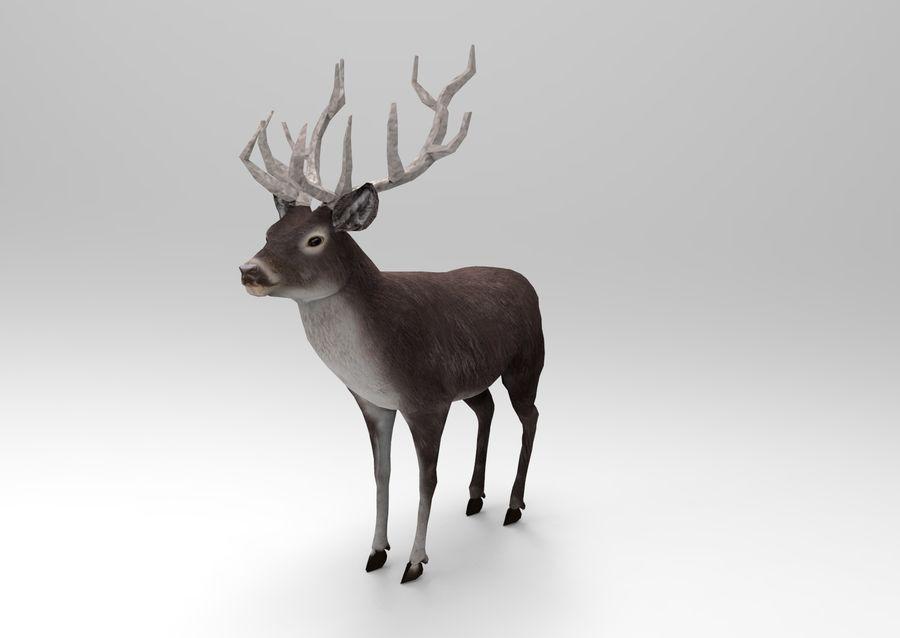 slitta di Babbo Natale royalty-free 3d model - Preview no. 10