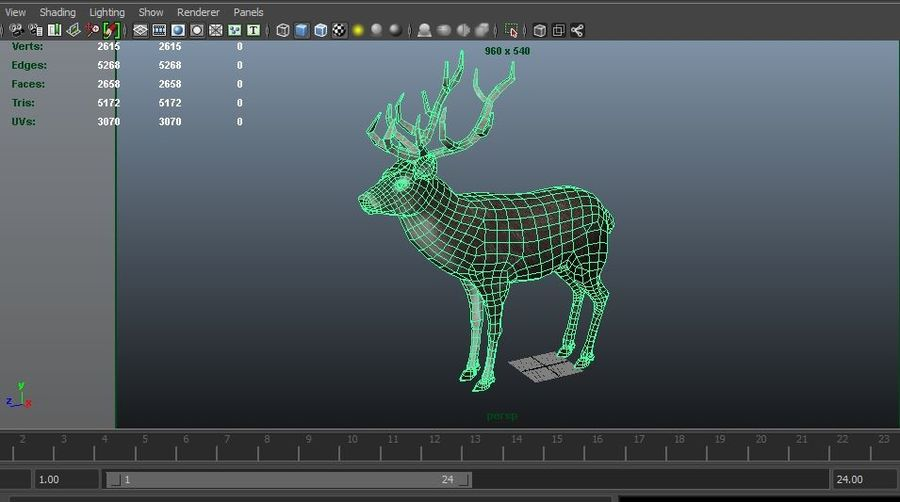 slitta di Babbo Natale royalty-free 3d model - Preview no. 15