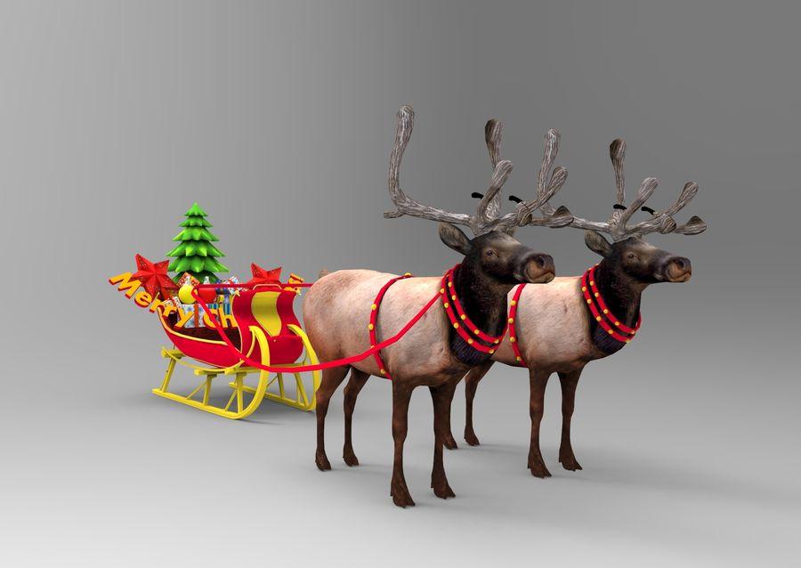santa Sleigh royalty-free 3d model - Preview no. 6