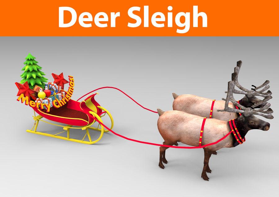 santa Sleigh royalty-free 3d model - Preview no. 1