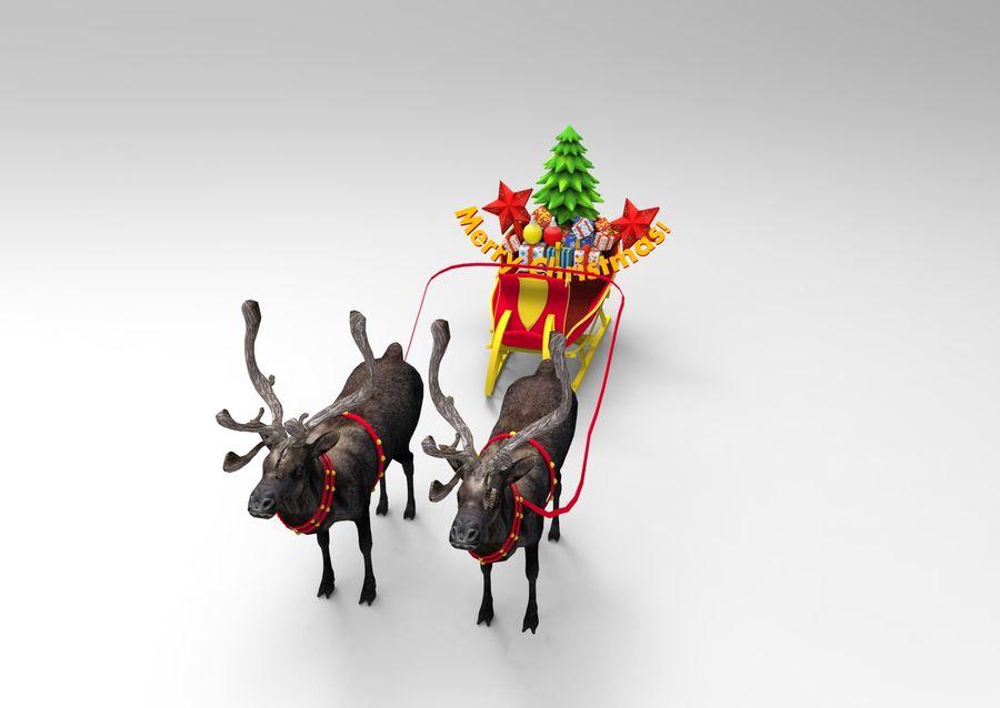 Santa sleigh royalty-free 3d model - Preview no. 4