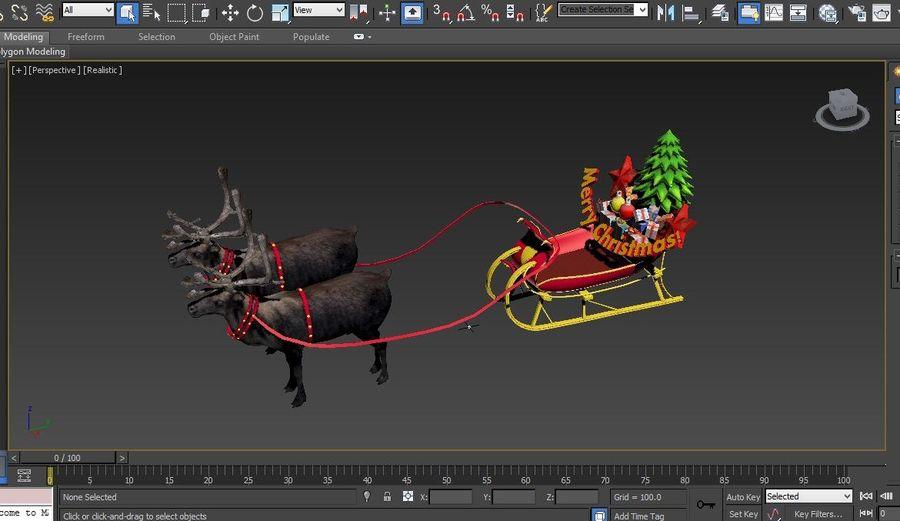 Santa sleigh royalty-free 3d model - Preview no. 26