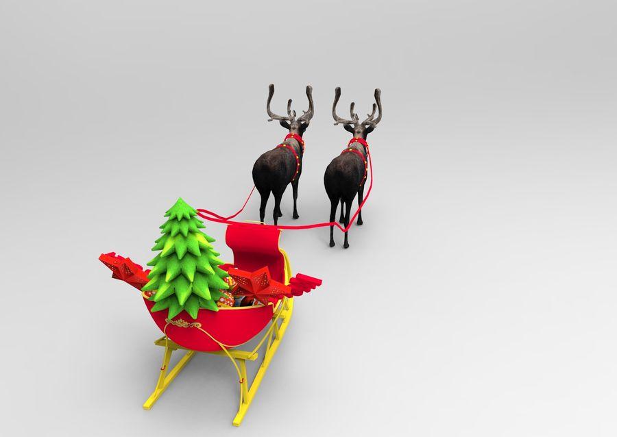 Santa sleigh royalty-free 3d model - Preview no. 8